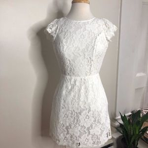 Guess Los Angeles cream lace backless mini dress